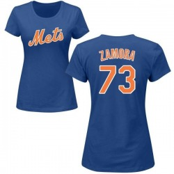 Women's Daniel Zamora New York Mets Roster Name & Number T-Shirt - Royal