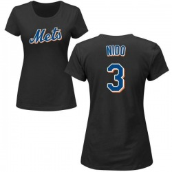 Women's Tomas Nido New York Mets Roster Name & Number T-Shirt - Black