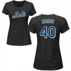 Women's Wilson Ramos New York Mets Roster Name & Number T-Shirt - Black
